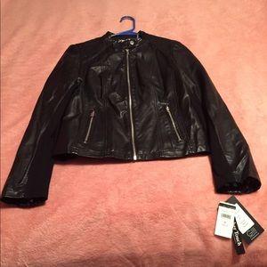 Black Rivet Black Leather Jacket